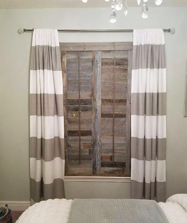 San Antonio reclaimed wood shutter bedroom
