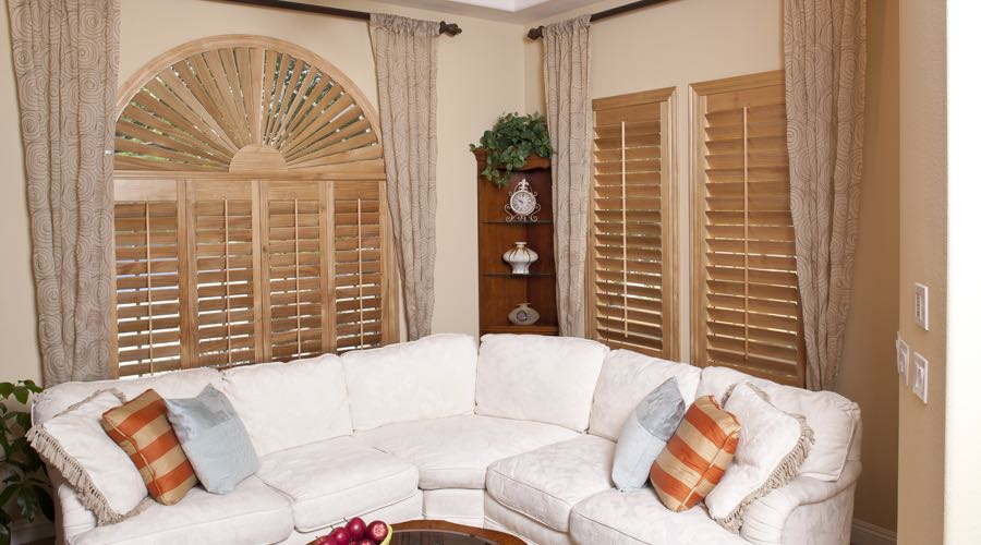 Ovation Wood Shutters In San Antonio Living Room