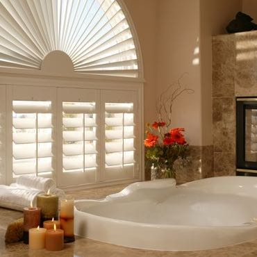 San Antonio bathroom privacy shutters.