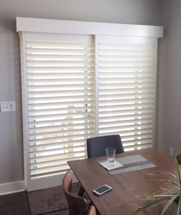 San Antonio bypass sliding door shutters