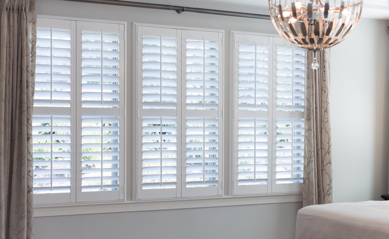 San Antonio plantation shutters bedroom