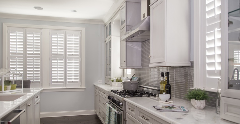 San Antonio kitchen white shutters