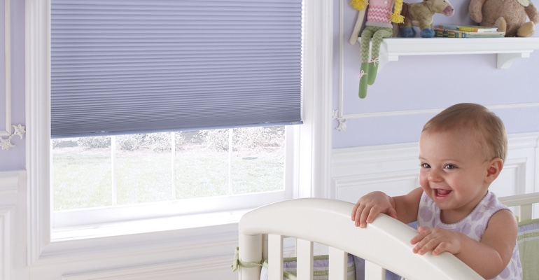 San Antonio infant's bedroom with cellular shades.