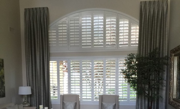 San Antonio drapes and shutters.