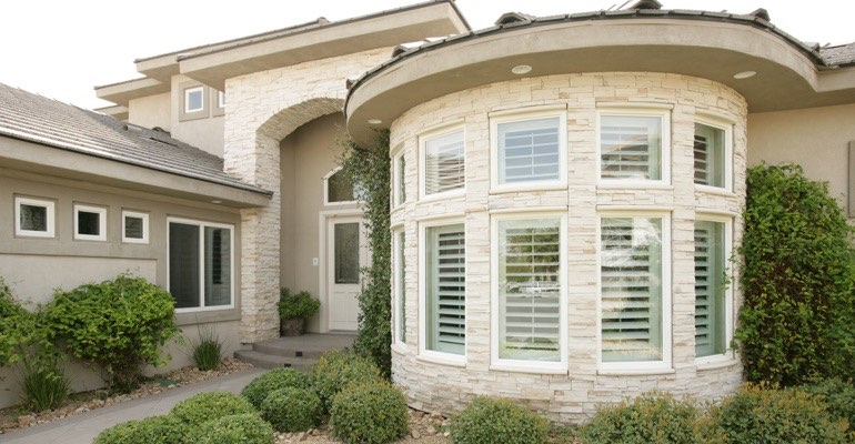 San Antonio bay window shutter exterior