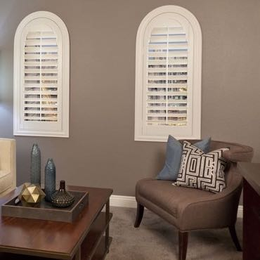 San Antonio family room interior shutters.
