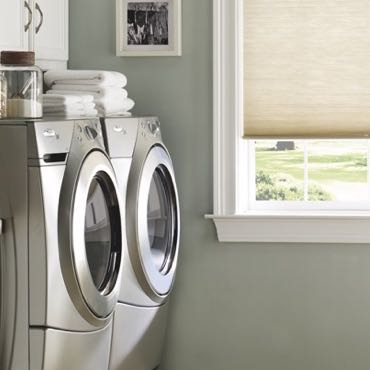 San Antonio laundry room pull-down shades.