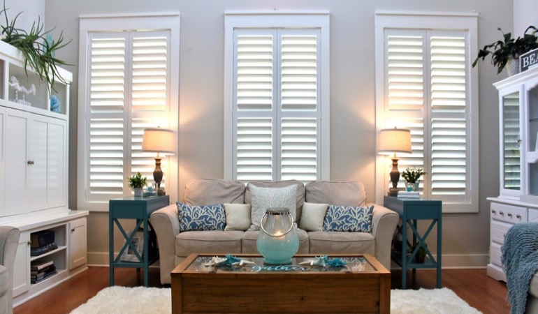 San Antonio designer house with plantation shutters