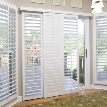 San Antonio Sliding Patio Door Shutters