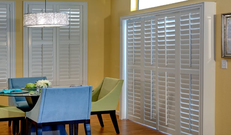 Patio Doors with Plantation Shutters in San Antonio