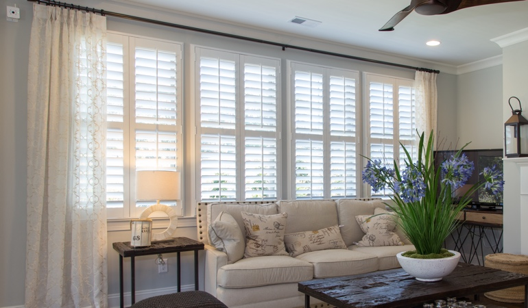 Interior Shutters in San Antonio Living Room