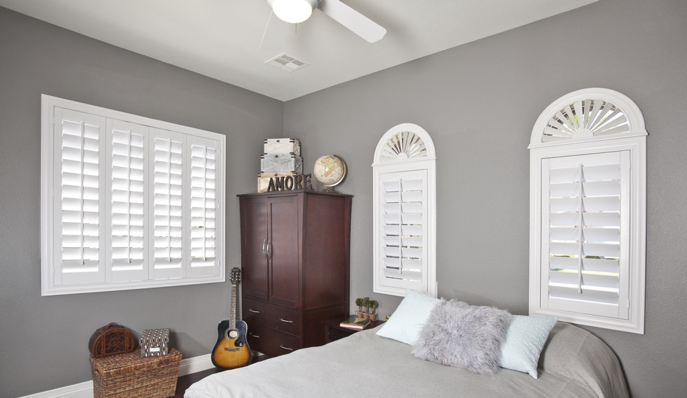 Polywood Shutters In A San Antonio Bedroom