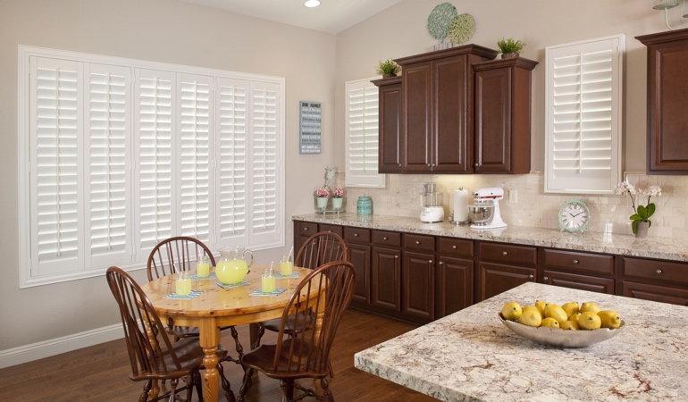 Polywood Shutters in San Antonio kitchen