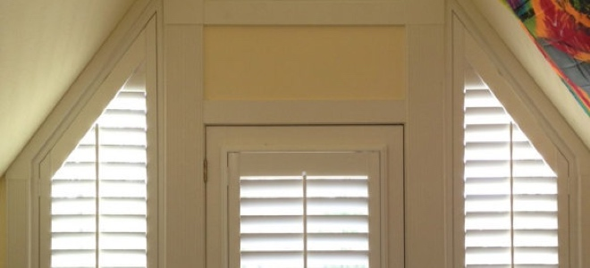 Rake Triangle Shutters