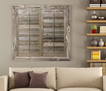 Reclaimed Wood Shutters. Studio Shutters San Antonio