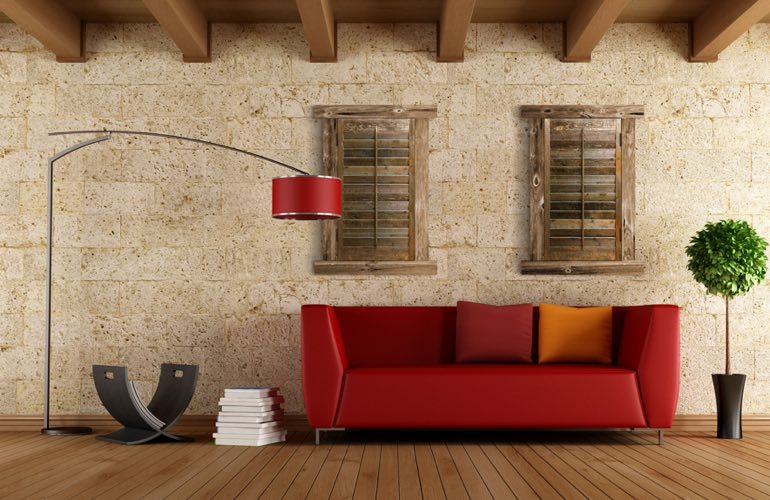 Reclaimed Wood Shutters In A San Antonio Living Room. - Reclaimed Wood Shutters For Sale Sunburst Shutters San Antonio, TX