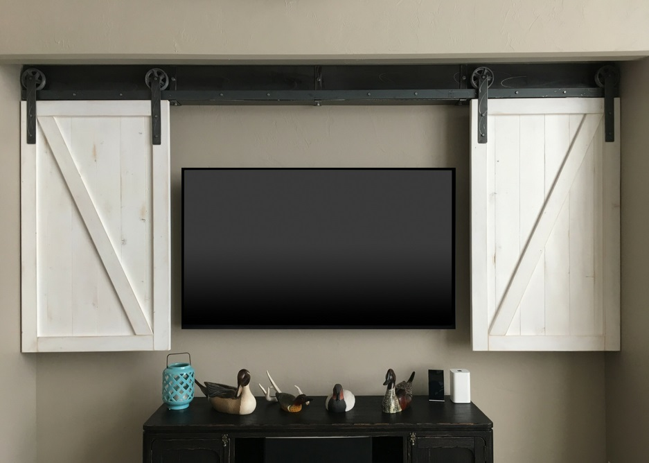 San Antonio tv shutter barn door