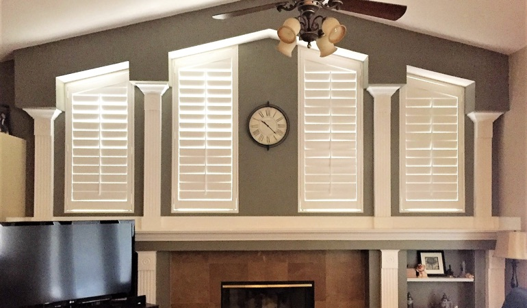 Polywood Shutters in Family Room in San Antonio