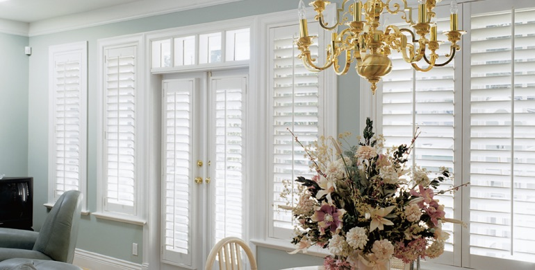 San Antonio sunroom polywood shutters