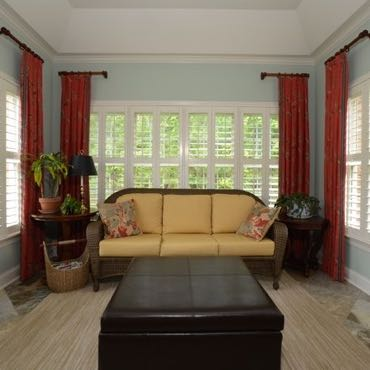 San Antonio sunroom window shutters.