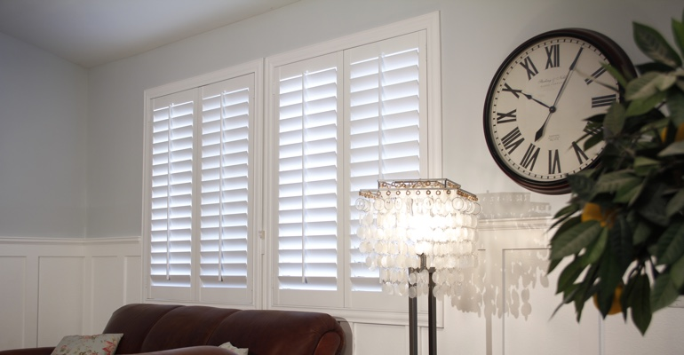 San Antonio living room indoor shutters