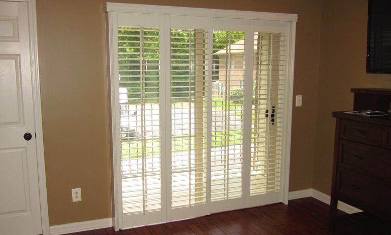 San Antonio sliding door bifold shutters in patio