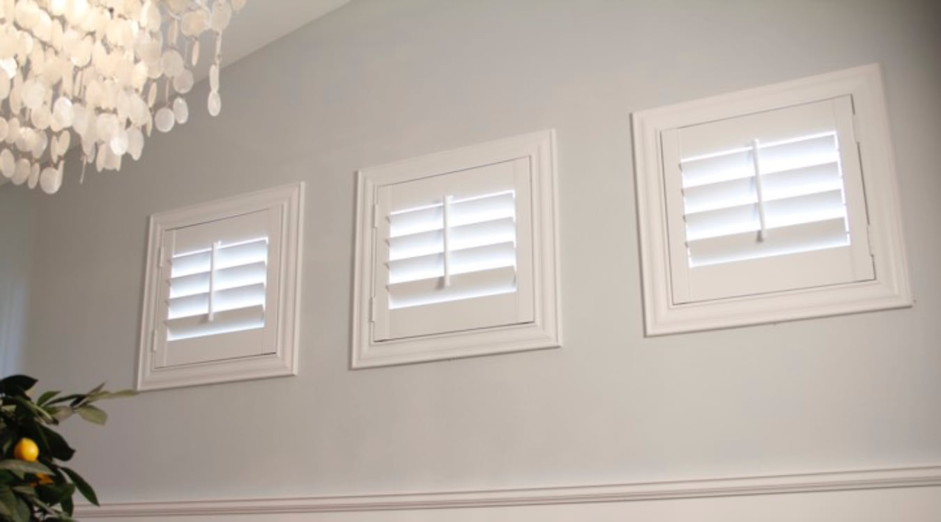 San Antonio casement window shutters