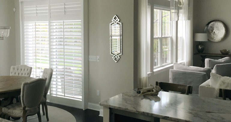 San Antonio kitchen sliding glass door shutters
