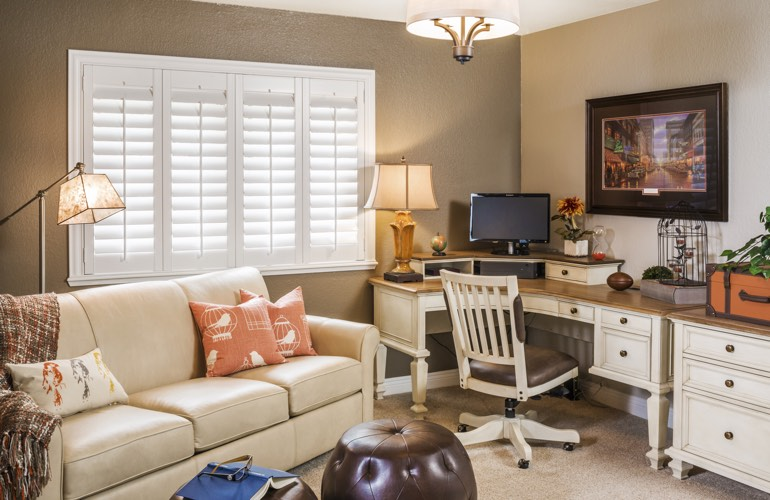 Home Office Plantation Shutters In San Antonio