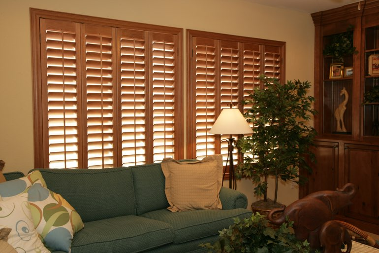 Ovation Shutters In A San Antonio Living Room.