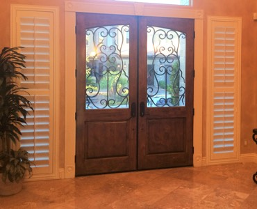 San Antonio sidelight window treatment shutter