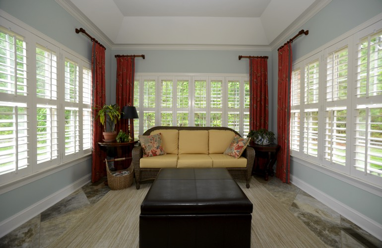 Plantation Shutters In A San Antonio Sunroom